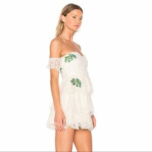 Lovers + Friends Dresses - Lovers + Friends Ivory Palm Lace Dress - OFFER 💓